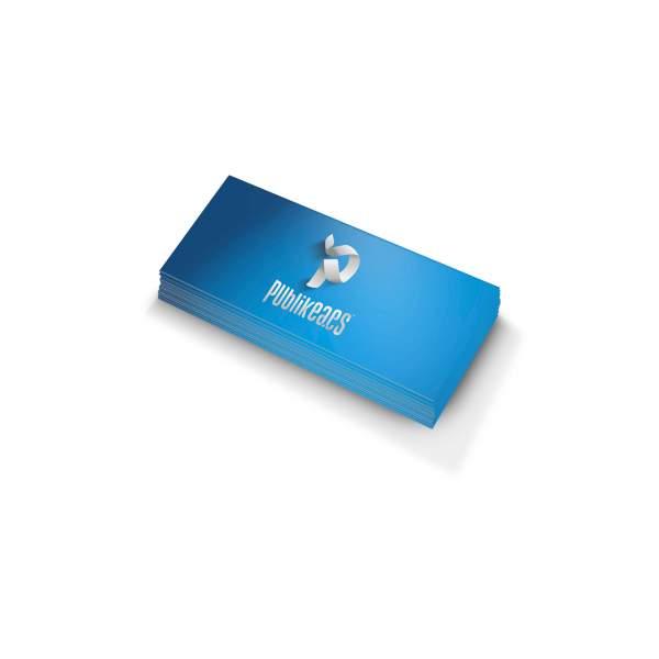 Imprimir tarjetas de visita urgentes 4x8 en papel 350gr