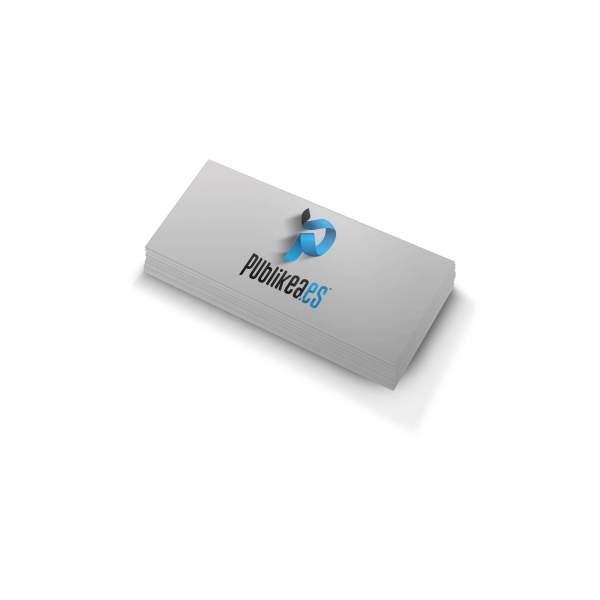 tarjetas de visita pvc rectangulares impresión a 2 caras