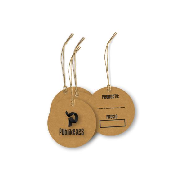 etiquetas circulares en papel kraft 5,2cm impresión por ambas caras