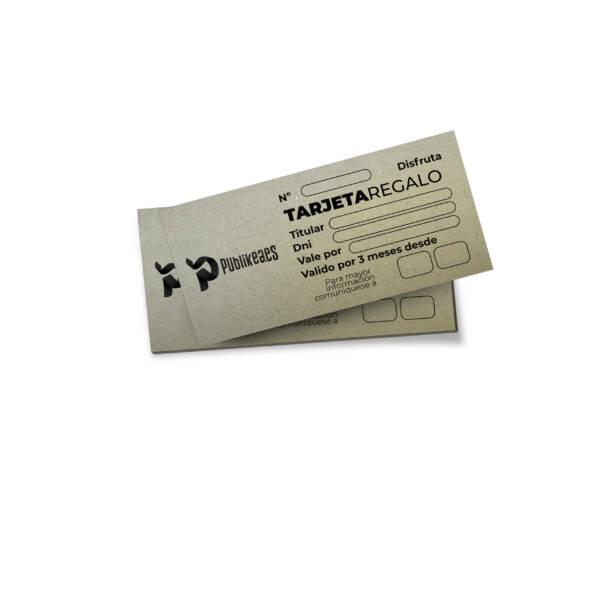 Imprimir Tarjetas regalo papel ecológico