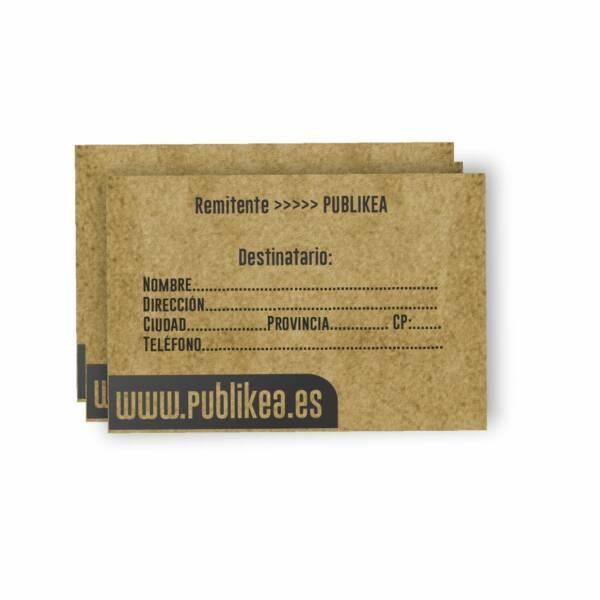 pegatinas para envíos especial e-commerce en papel kraft